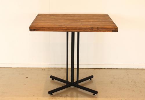 古木調オイル仕上げのヴィンテージ調 カフェテーブル 2人用テーブル パイン無垢材使用